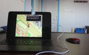 Super Nintendo game Mother on SNES emulator.