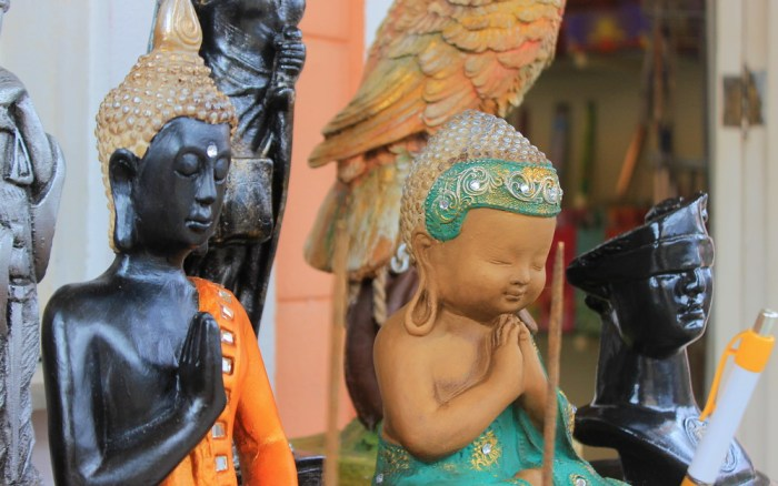 Buddha Statues at Little Finland souvenir shops.