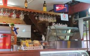 The inside of Café Finlandês in Penedo, Brazil.