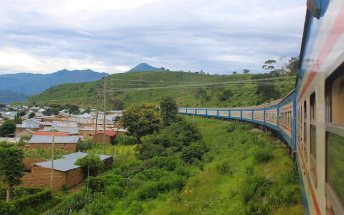 African train journey from Zambia to Tanzania