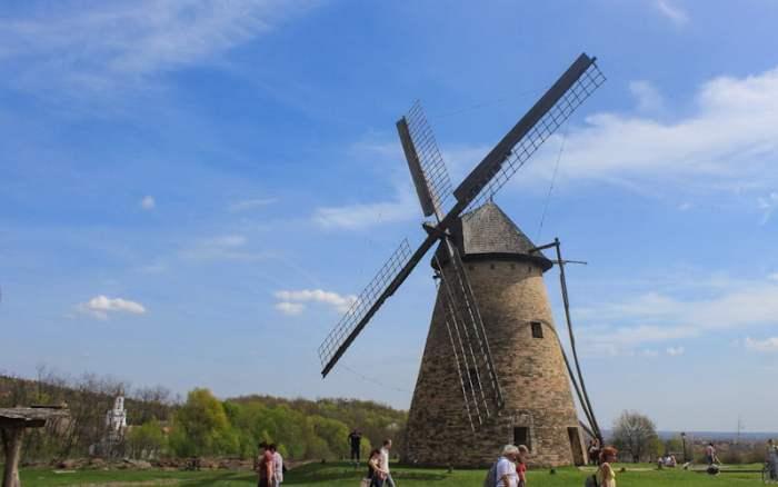 A windmill in Skanzen open-air museum, Hungary