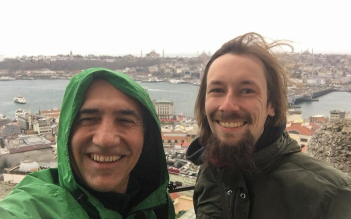 Traveller Reunion in Galata Tower, Istanbul