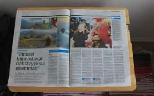 Keskisuomalainen newspaper interview about my 2-year trip around the world.