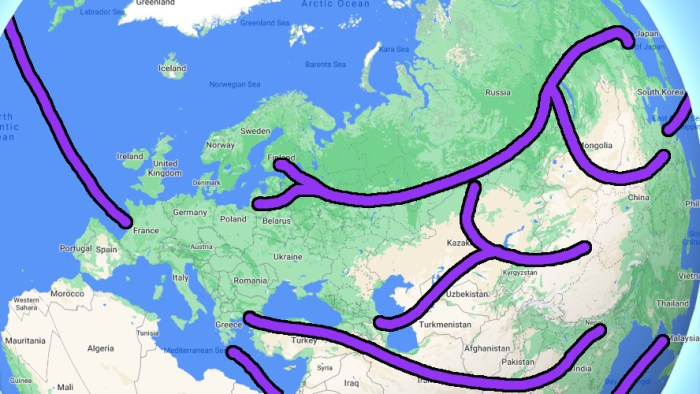 Overland travel from Europe to Asia