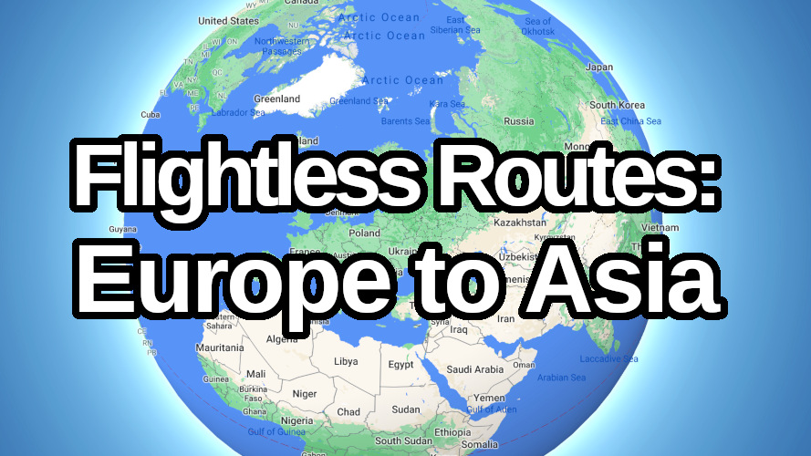 Europe to Asia without flying