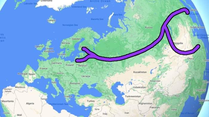 Transsiberian and Transmongolian Railways to Asia