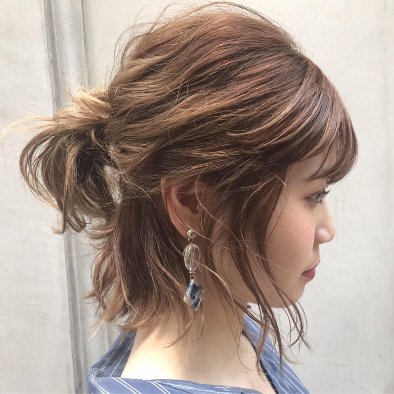 髪型 アレンジ ボブ - Kamigatabest