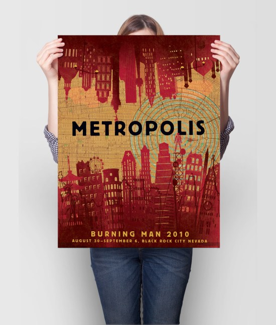 Burning Man Metropolis poster
