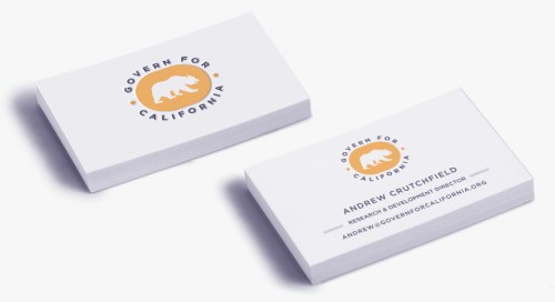 Govern For California Business Card design