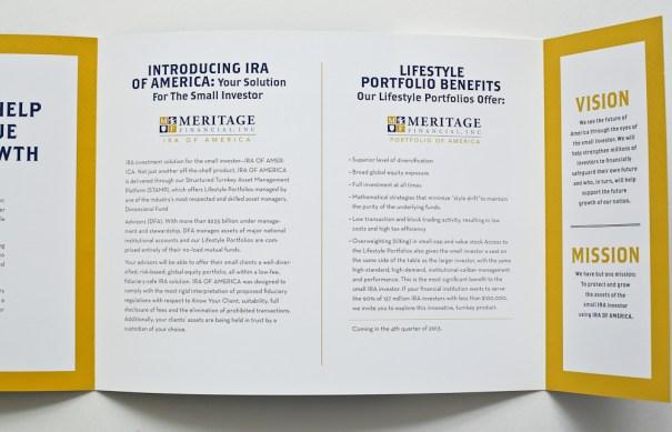 Brochure design, print design for financial brochure