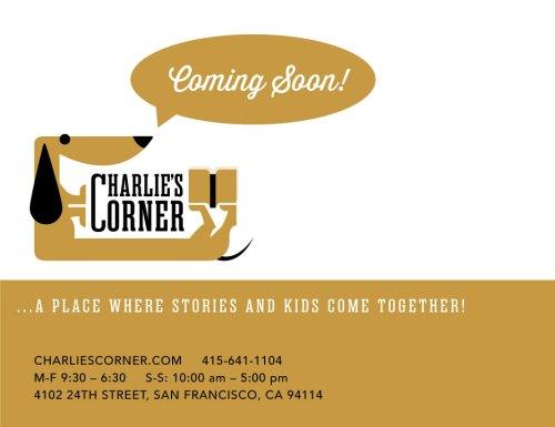 Charlie's Corner website's coming soon splash page