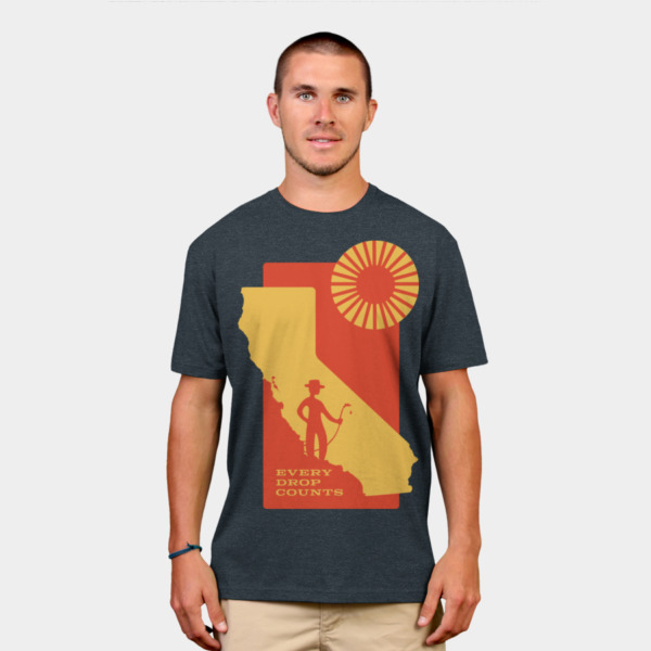 Design of custom t-shirt graphic donated to Climate Relief Fund