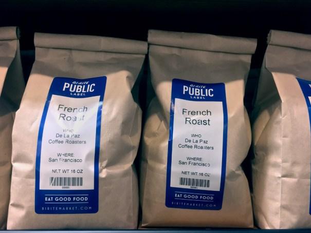 Public Label by Bi-Rite Market coffee packaging