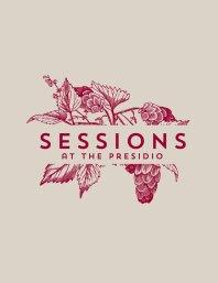 Sessions restaurant logo and branding