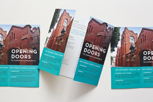 print and brochure design, periodical design for San Francisco independent school