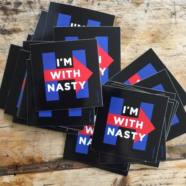 Im With Nasty sticker design