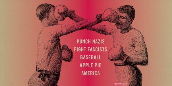 punch nazis, fight fascists graphics