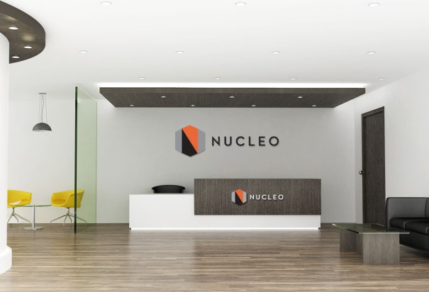 Bay Area life sciences company Nucleo logo and branding design