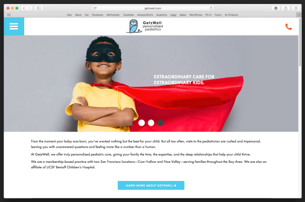 San Francisco small business branding - personalized pediatrics