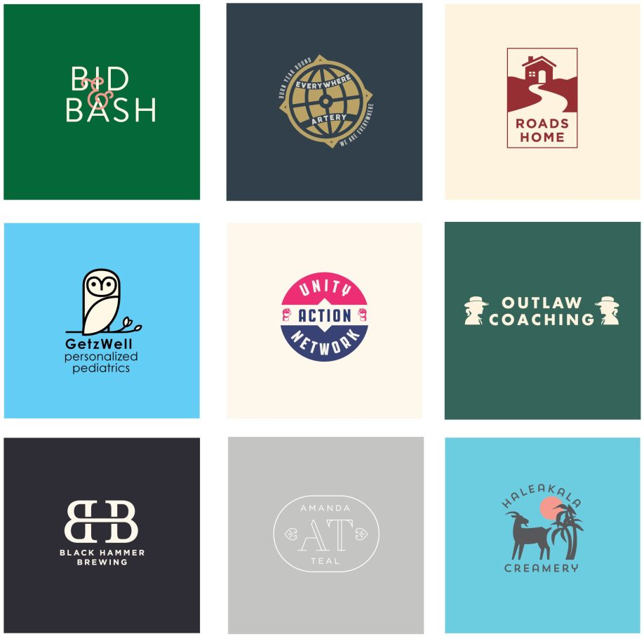 branding and logo design for unique bay area companies
