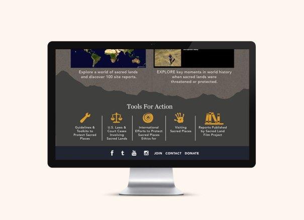 website design for Bay Area nonprofit Sacred Land Film Project