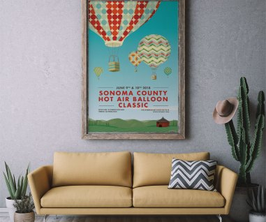 poster design for hot air balloon festival