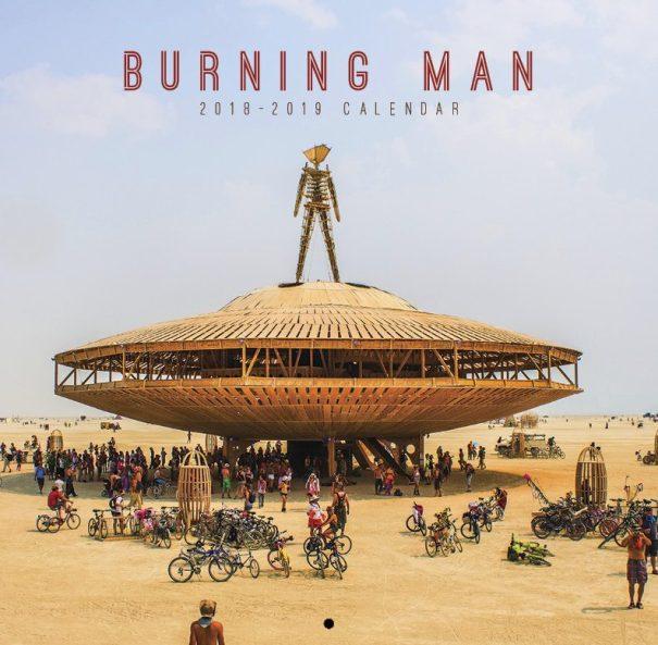 The 2018 - 12019 Burning Man calendar designed by Arin Fishkin in San Francisco