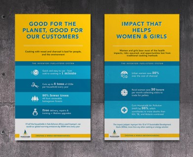 poster design for social good cookstove company based in Rwanda