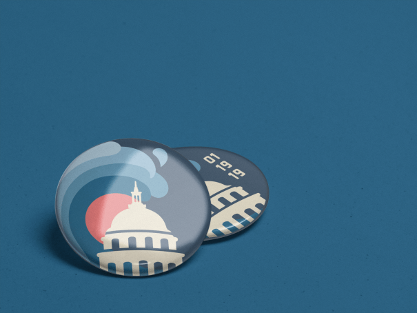 pin design for the women's march, women's wave logo