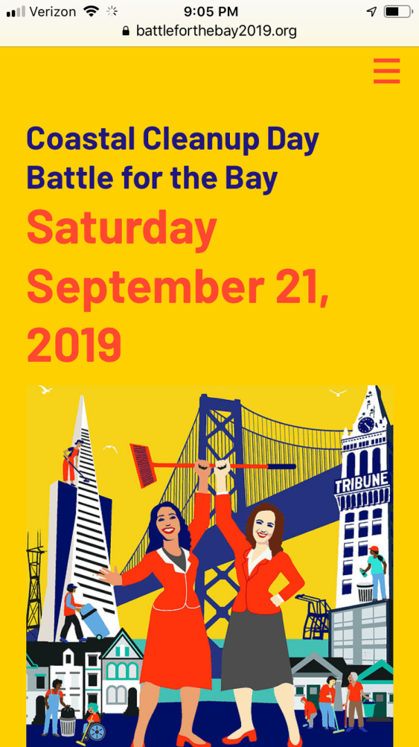 Battle for the Bay website design