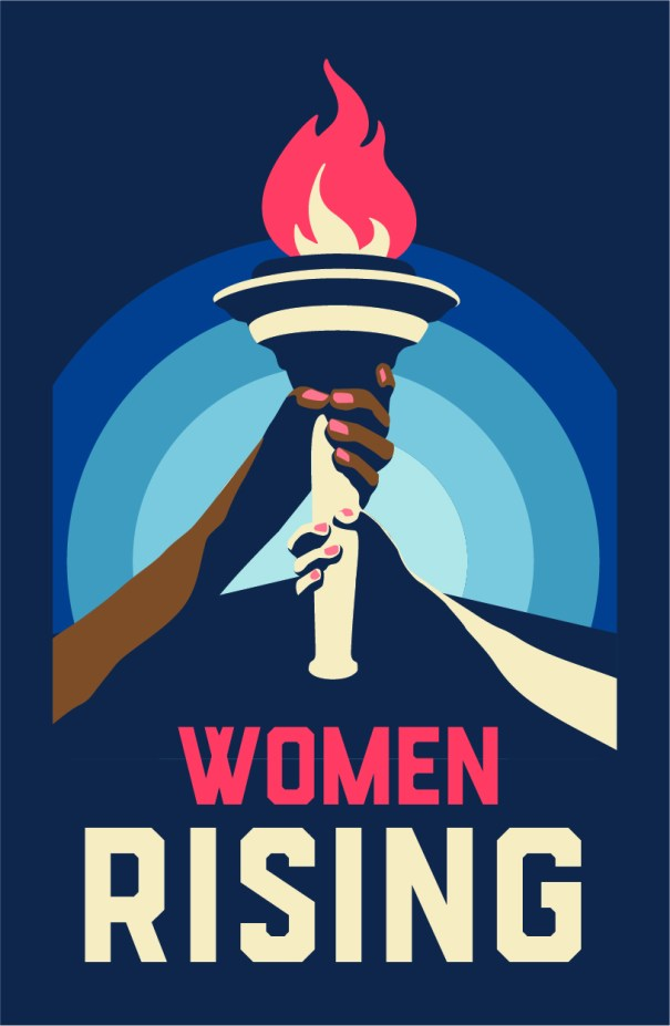 Women Rising, Women's March 2020 logo