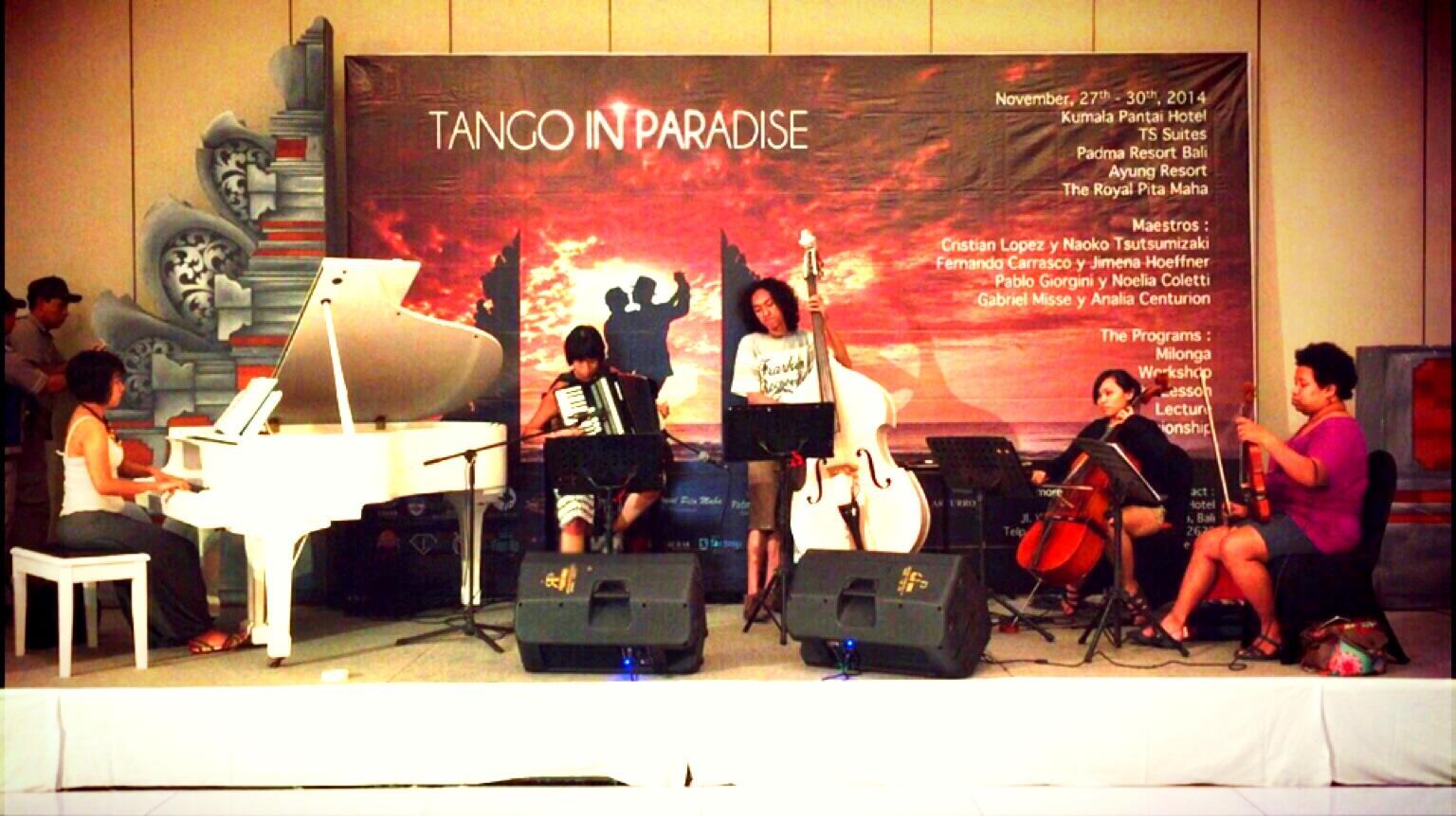 MusiCater Tango Ensemble for Bali Tango in Paradise 2014