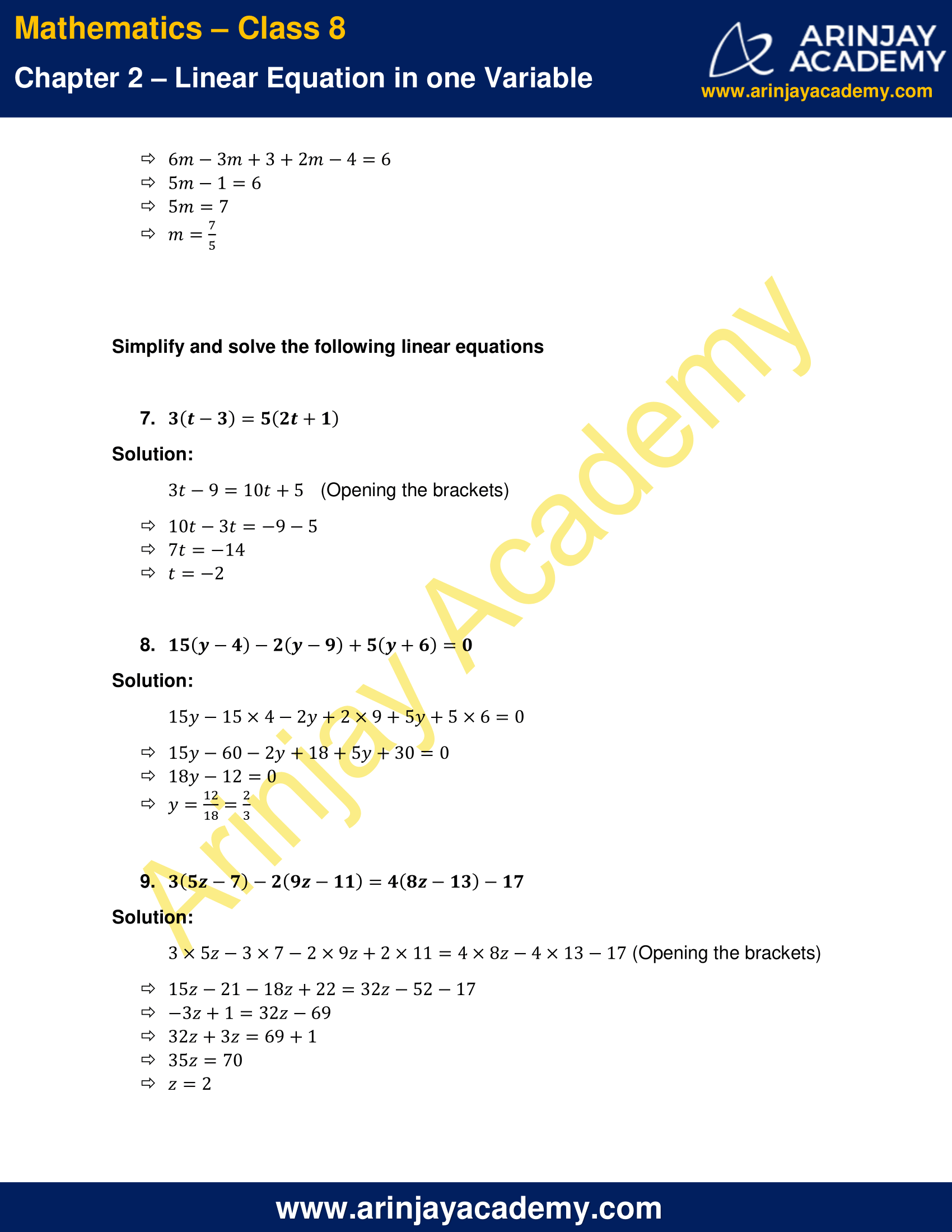 Ncert Solutions For Class 8 Maths Chapter 2 Exercise 2 5