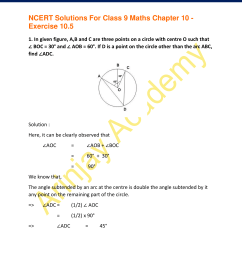 NCERT Solutions for Class 9 Maths Chapter 10 Exercise 10.5 - Circles [ 2200 x 1700 Pixel ]