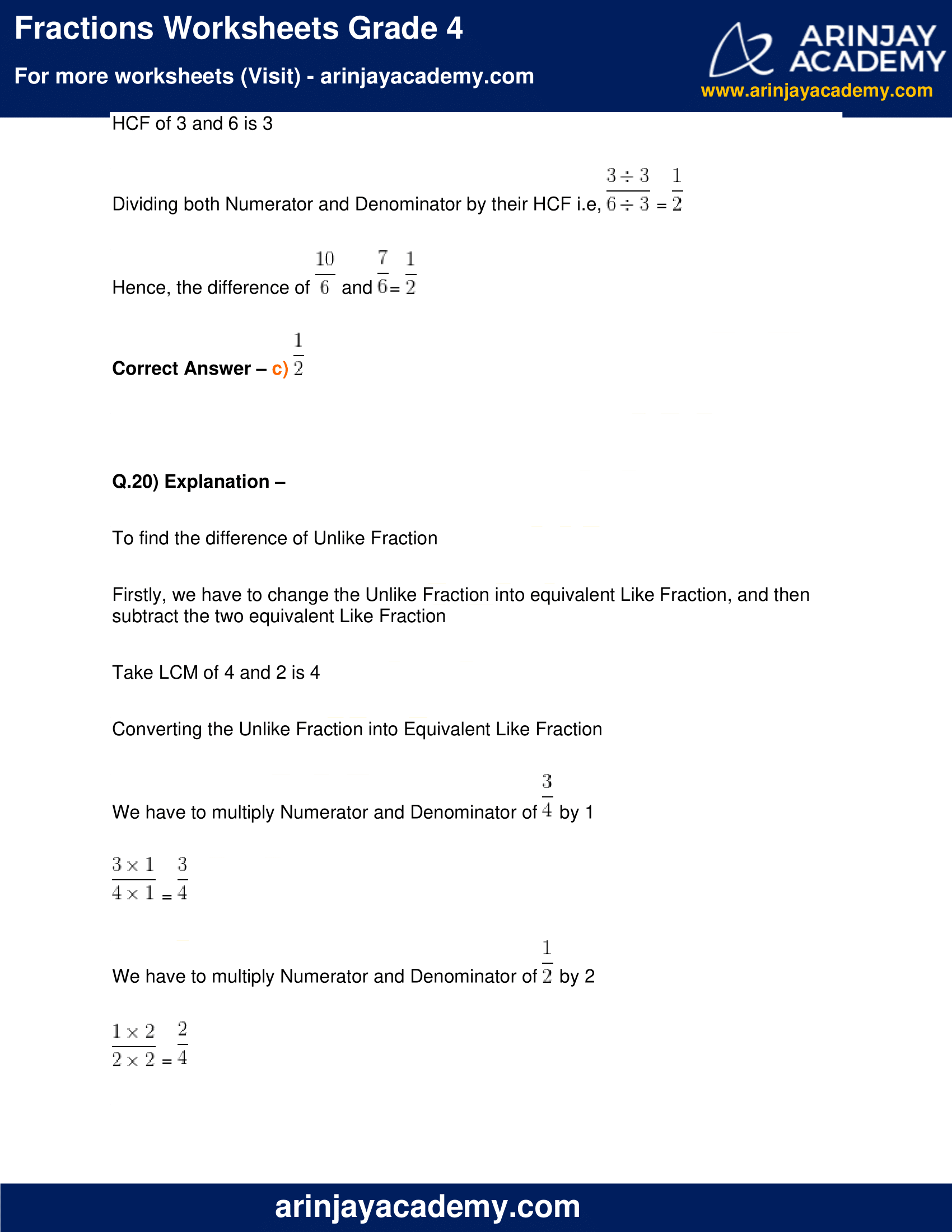 hight resolution of Fraction Worksheet Class 4   Printable Worksheets and Activities for  Teachers