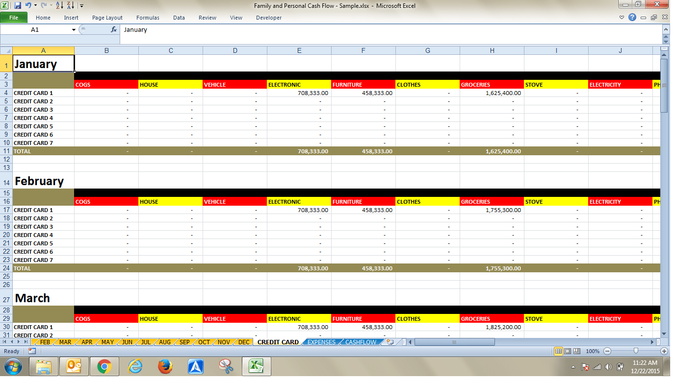 Sharing Ms Excel Template File To Record Your Personal
