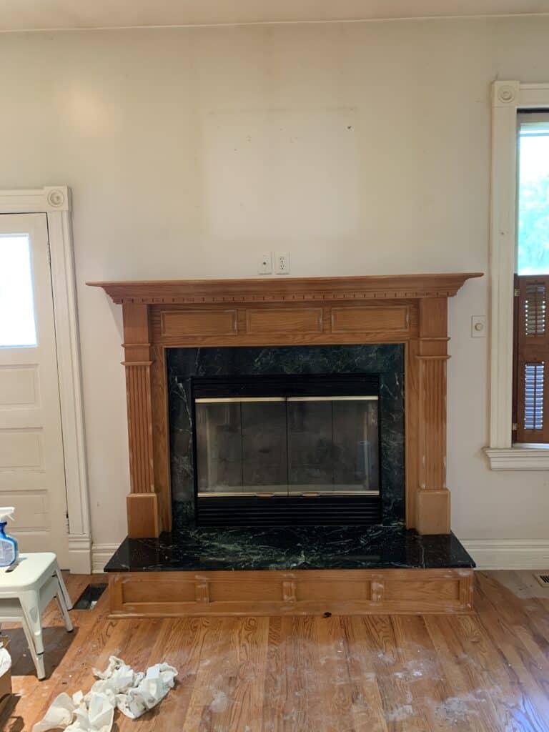 peel and stick backsplash fireplace