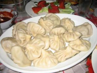 (khinkali) its soft bread wrapped around meat its really popular inGeorgia