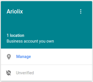 Google My Business - Compte professionel