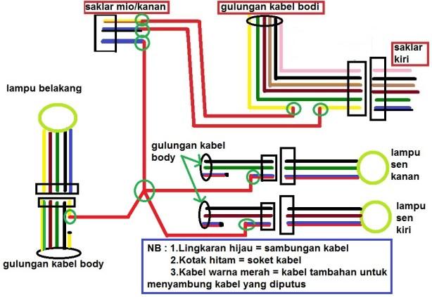 Tips Pasang Saklar Lampu Untuk Motor Baru(Part 2) Diagram