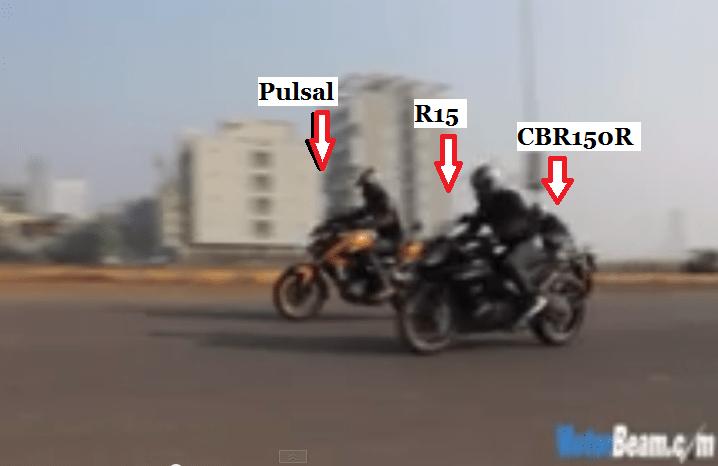 ARIPITSTOP » Video Drag Race… Yamaha R15 vs Pulsar 200 NS vs Honda CBR150R, Pulsar 200 NS Menang ...