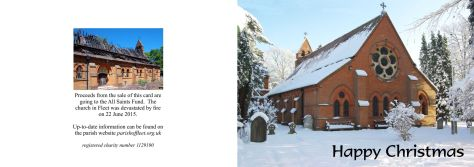 Christmas Card Design B (All Saints in snow)