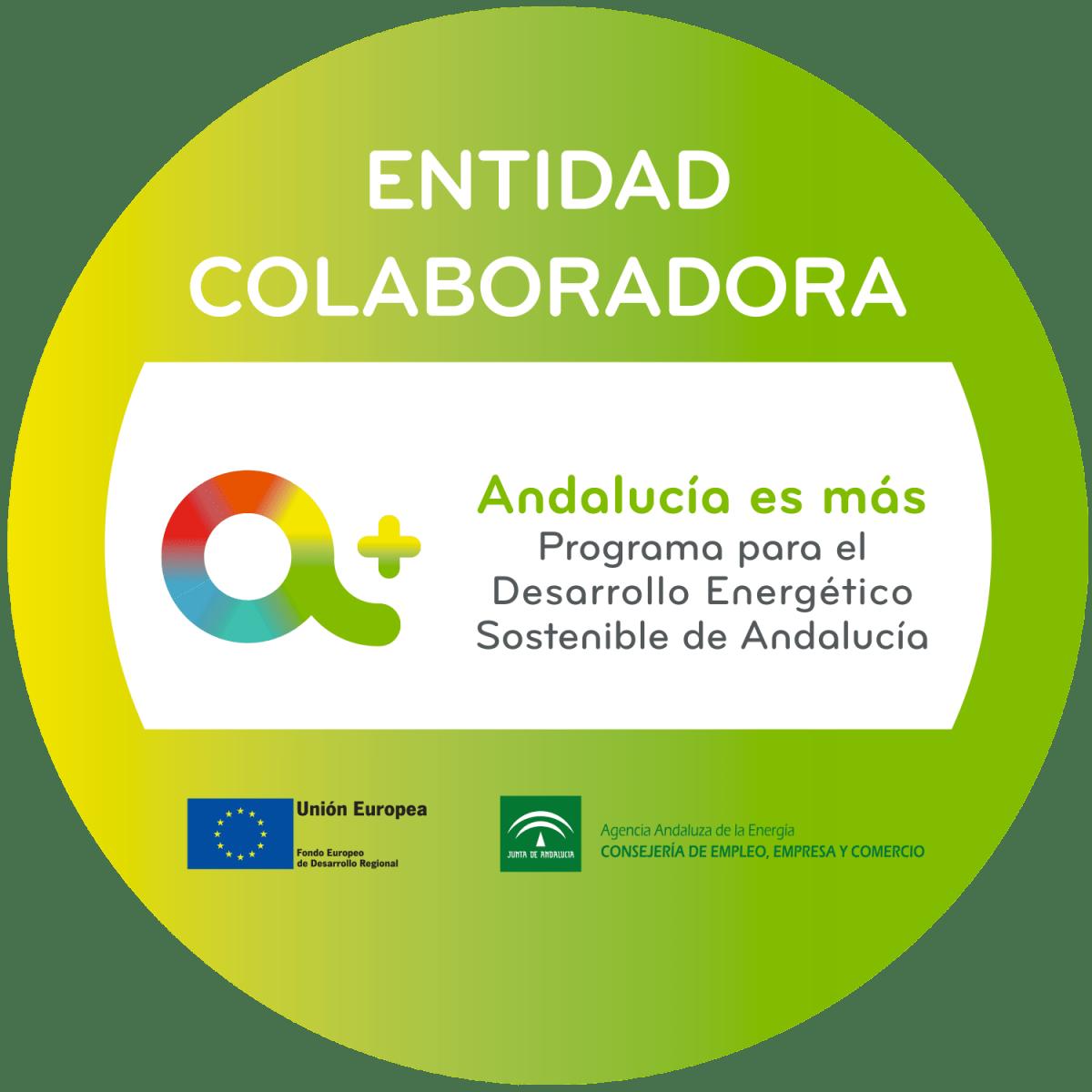 Somos Empresa Colaboradora de la Agencia Andaluza de la Energía para el Programa de Desarrollo Energético Sostenible de Andalucía.