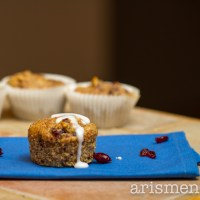 Orange Cranberry Almond Meal Muffins