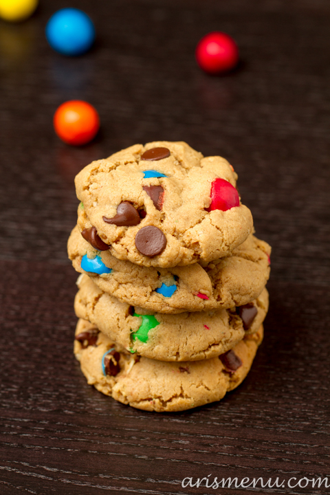 Pretzel M&M Peanut Butter Cookies