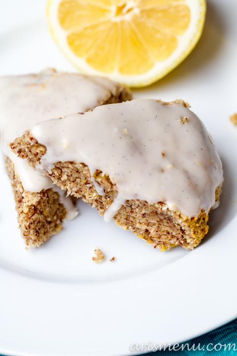 Lemon Almond Meal Scones #vegan #glutenfree