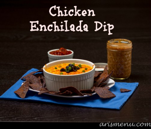 Chicken Enchilada Dip #glutenfree via arismenu.com
