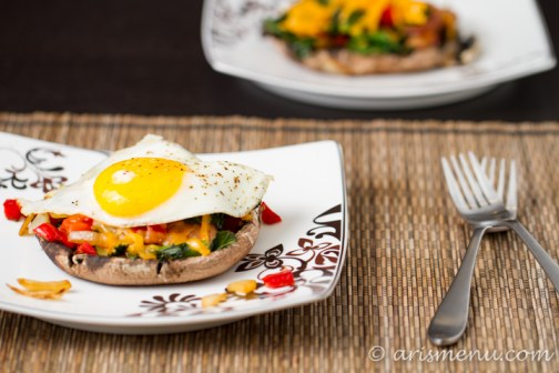 Portobello Breakfast Cups #glutenfree via arismenu.com