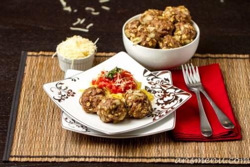 """Spaghetti"" & Meatballs #glutenfree via arismenu.com"