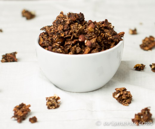 """Nutella"" Granola #vegan #glutenfree via arismenu.com"